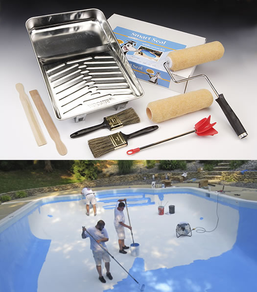 DIY Pool and Deck Painting Kit: Pool Paint & Sealer Application Tools